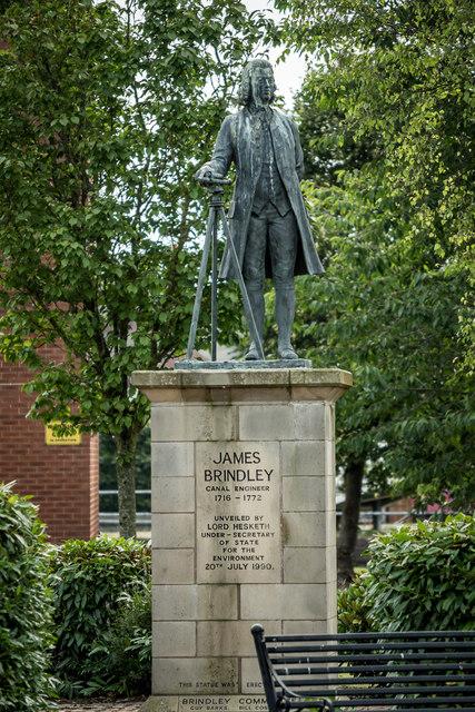 James Brindley (1716-1772) Statue, Etruria