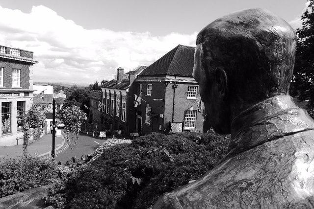 Elgar statue and Church Street