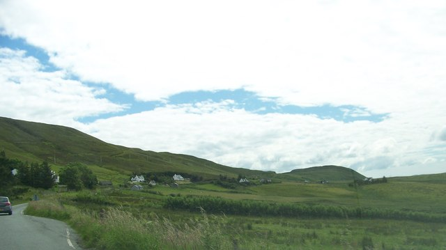 A855 heading south towards Uig