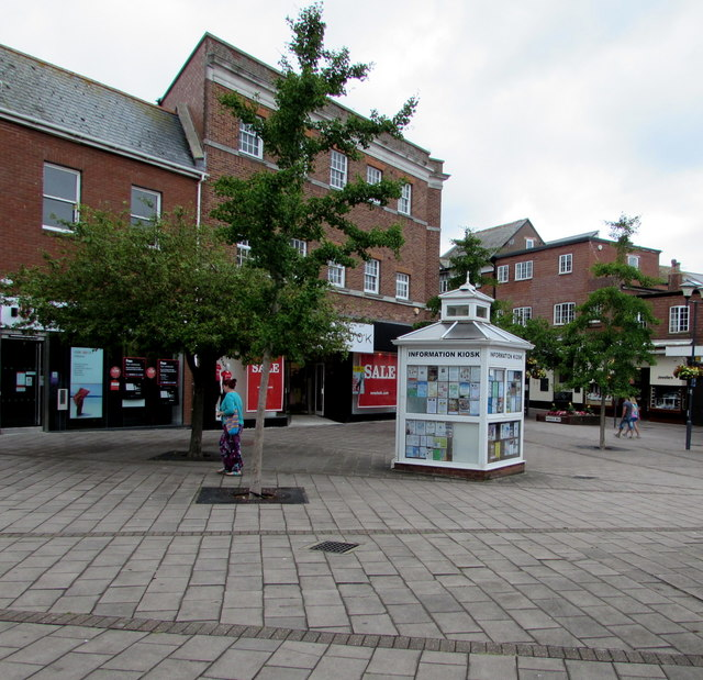 Information kiosk in Exmouth town centre