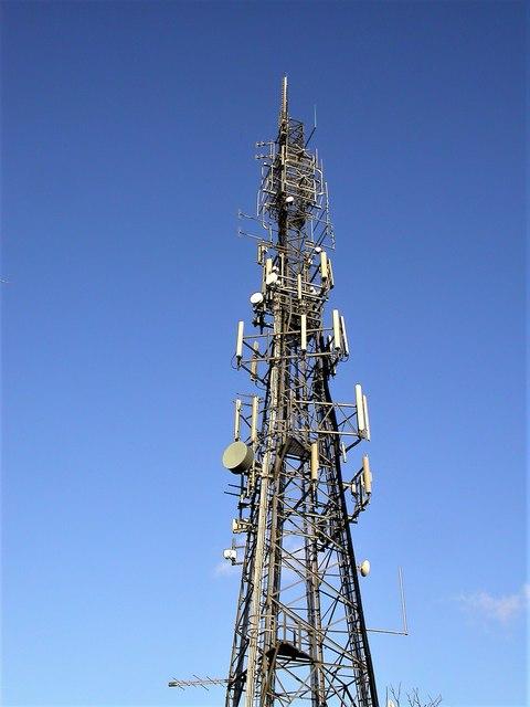 Horntye television mast in Bohemia, St Leonards on Sea