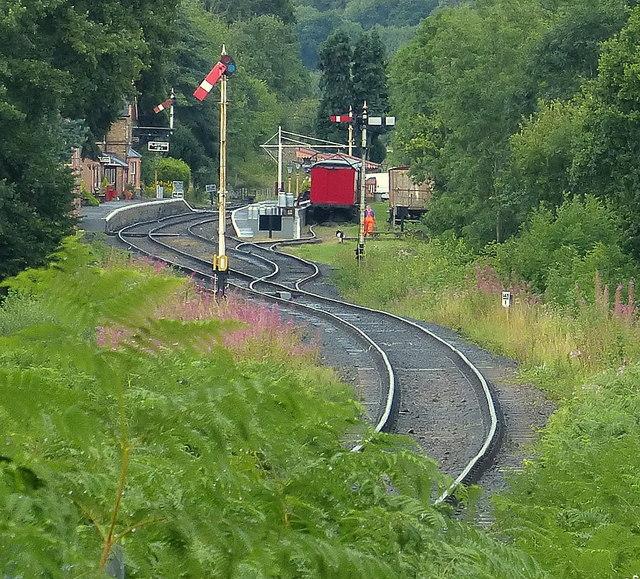 Hampton Loade Station on the Severn Valley Railway