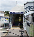 ST5714 : Yeovil Junction railway station entrance steps by Jaggery