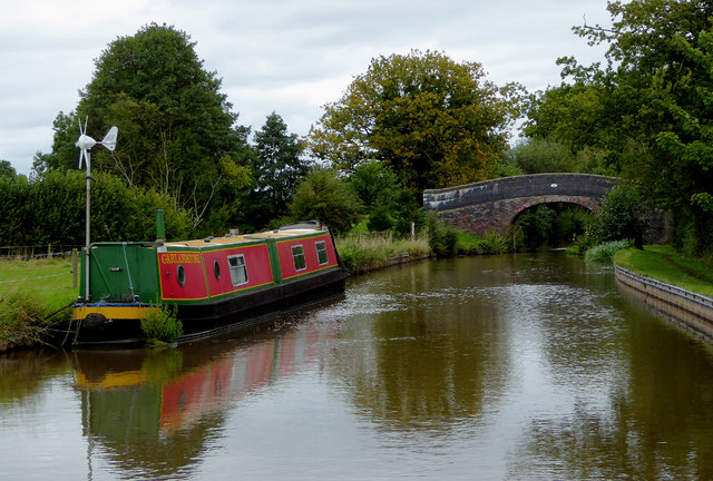 Llangollen Canal west of Stoneley Green, Cheshire