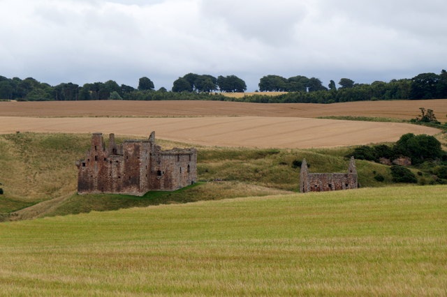 Crichton Castle from the west