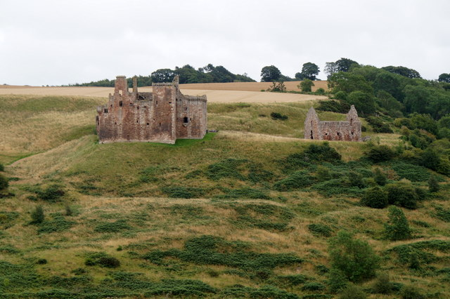 Crichton Castle from the top of Colegate Road