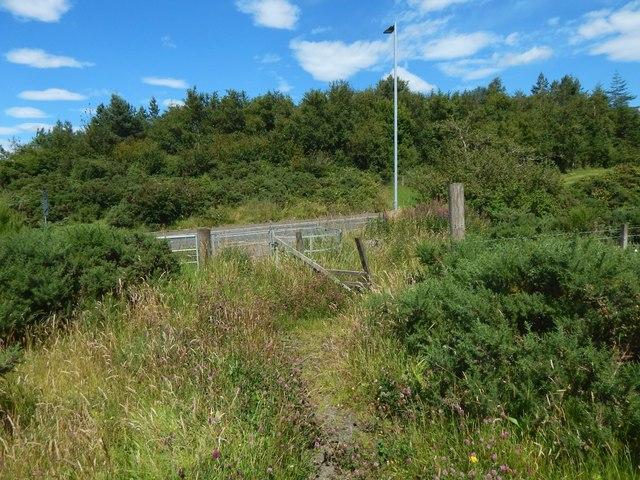 A gate beside Auchmountain Road