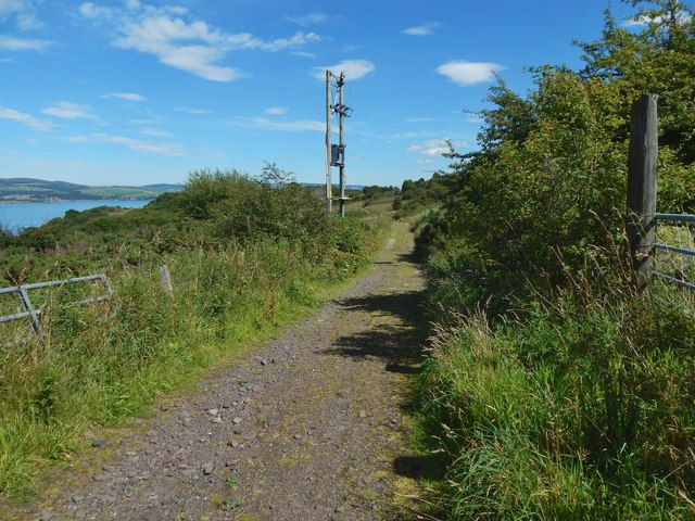 The start of a path to Knocknairshill ruins