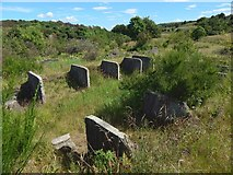 NS3074 : The ruins of Knocknairshill Farm by Lairich Rig