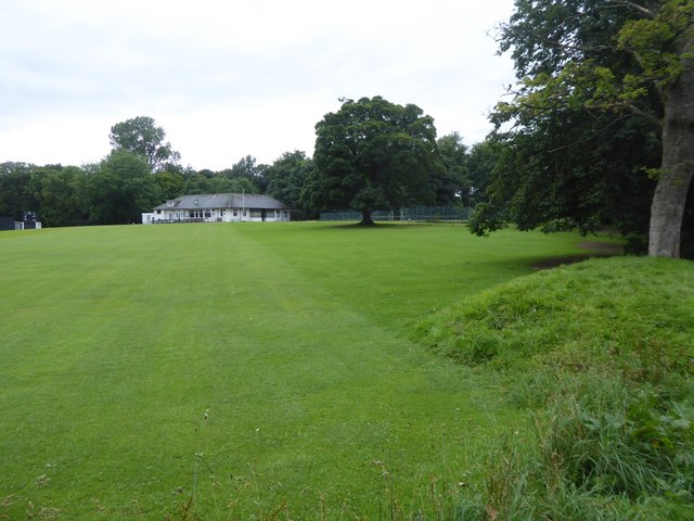 Cricket ground and pavilion, Pollok Country Park