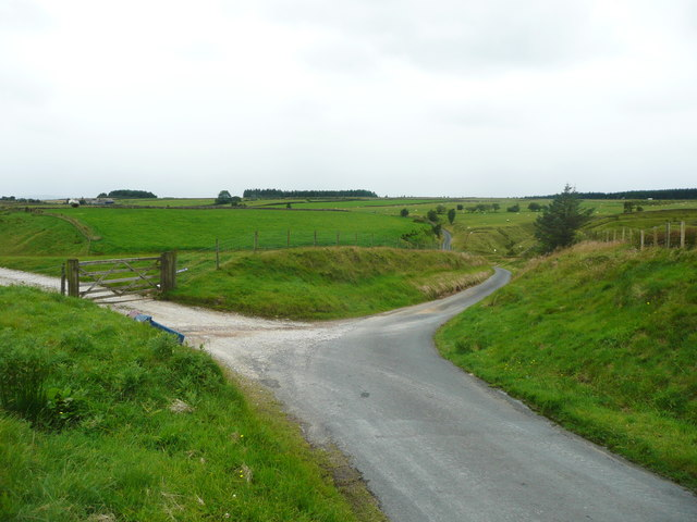 Bridleway and driveway off Old Raike, Gisburn Forest