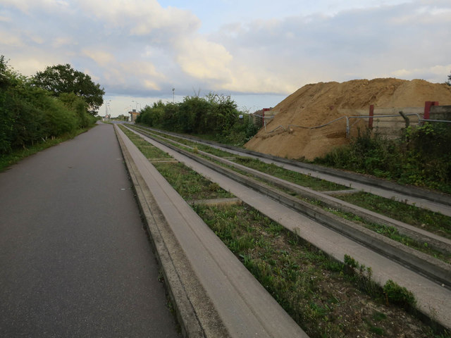 Aggregate site by the busway