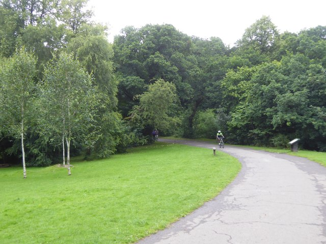 Cycling in Pollok Country Park