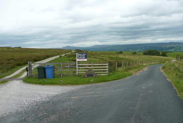 Footpath and driveway at Croft Gate, Gisburn Forest