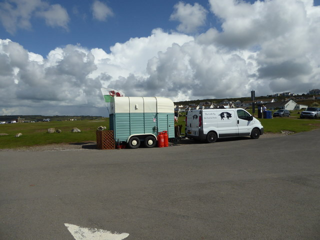 The Coffi Pig at the car park in Ogmore-by-Sea