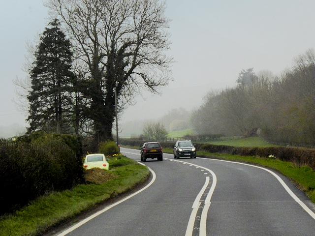 A483 north of Llanmerewig