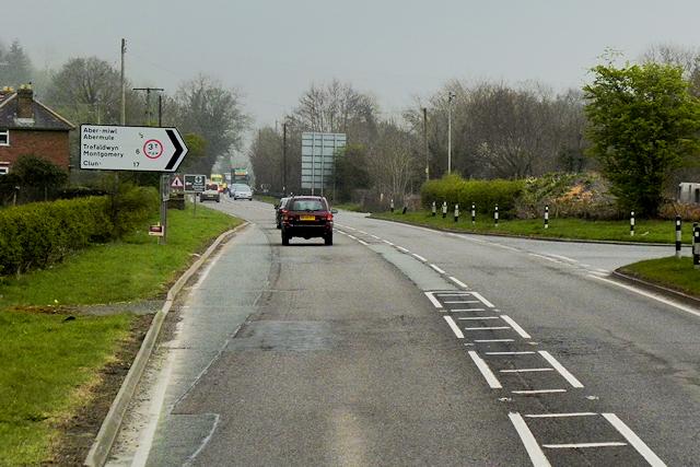 Road Junction near Brynderwen Farm