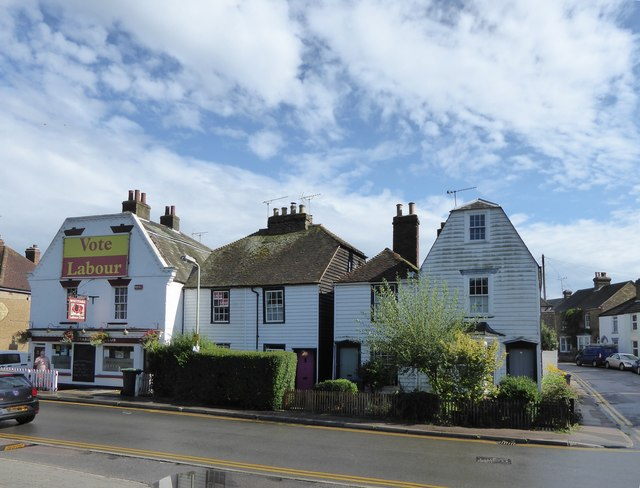 Weather-boarded houses, Belmont Road, Whitstable