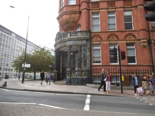 Stamford Street at the junction of Waterloo Bridge Road