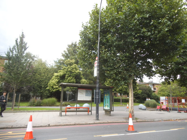 Bus stop on New Kent Road, Walworth