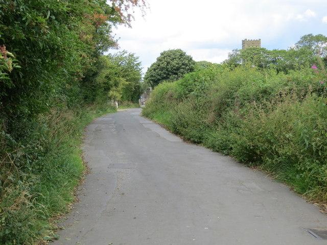 Green Balk Lane entering Lepton from Little Lepton