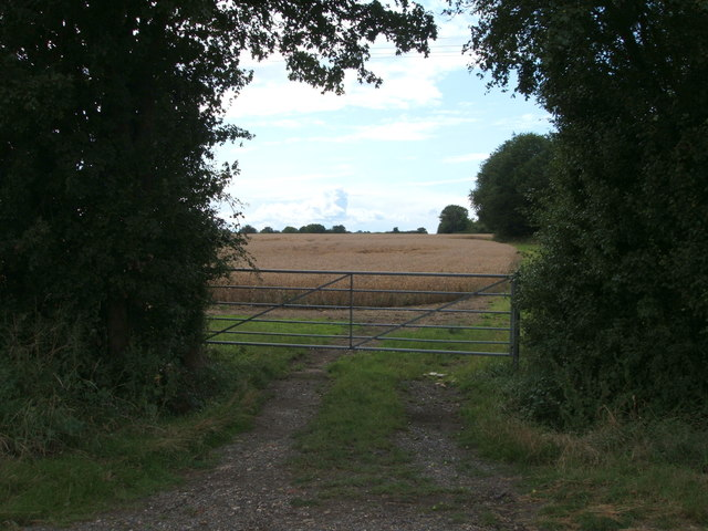 Gated farm track off National Cycle Route 1