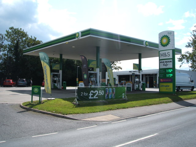 Service station on Roxwell Road (A1060)
