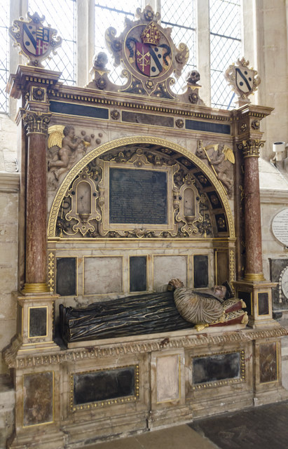 Monument to  Bishop William Cotton, Exeter Cathedral