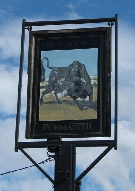Sign for the Black Bull, Chelmsford