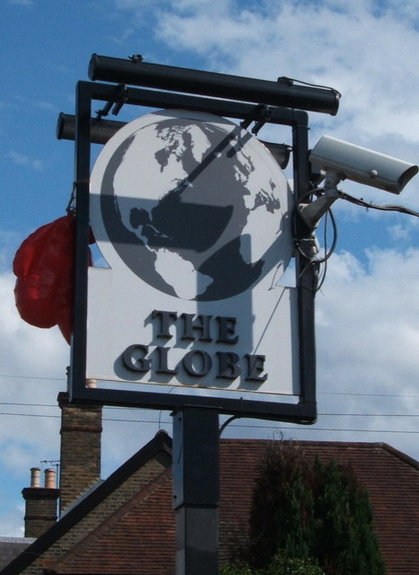 Sign for the Globe public house, Chelmsford