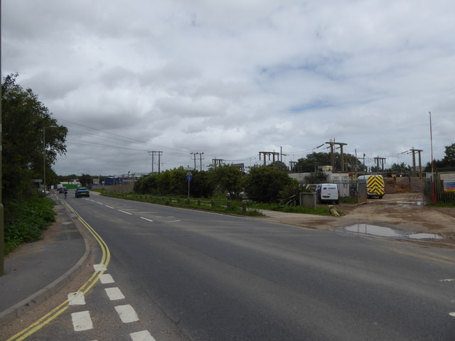 """Junction of Harts Farm Way and the access road to the """"Tip"""""""