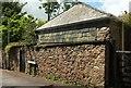 SX8060 : Wall on Bourton Lane, Totnes by Derek Harper