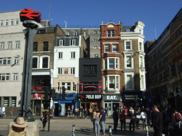 Shops on Bishopsgate, London