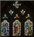 SX9292 : Stained glass window, Exeter Cathedral by Julian P Guffogg