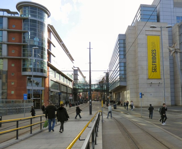 Corporation Street from Exchange Square