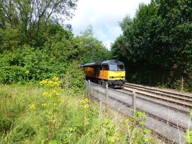 Colas diesel locomotive on the Ribble Steam Railway