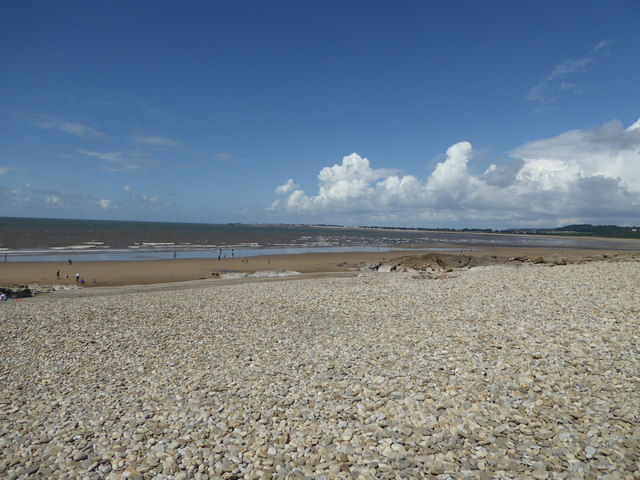 Storm beach of pebbles at Ogmore-by-Sea
