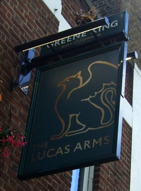 Sign for the Lucas Arms, London