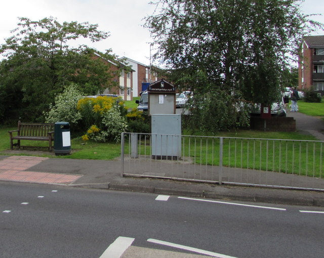 Public area on the west side of Hereford Road, Mardy