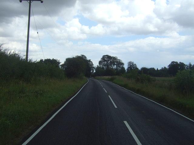 Minor road towards Moreton