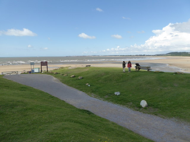Overlooking the sands at Ogmore-by-Sea
