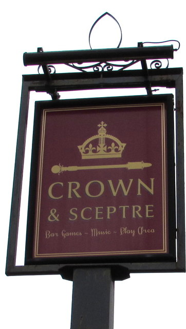 Crown & Sceptre name sign, Mardy