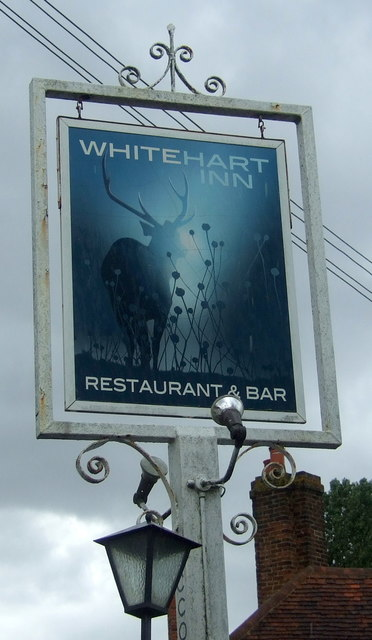 Sign for the White Hart Inn, Moreton