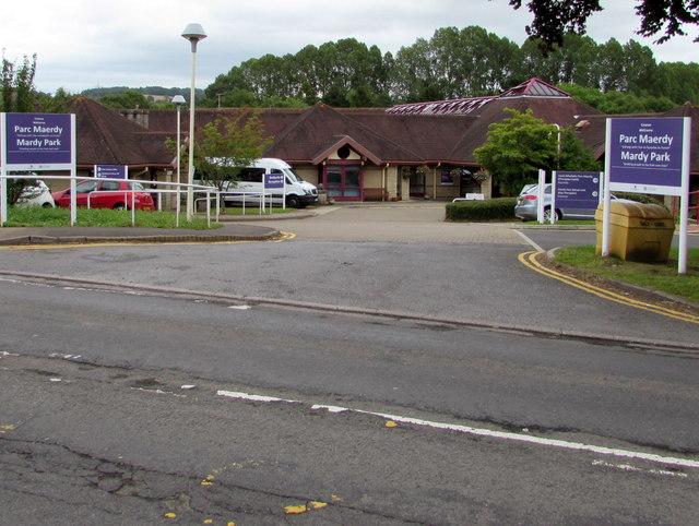 Entrance to Mardy Park, Mardy