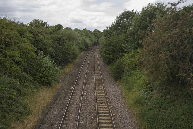 Railway lines through Weston