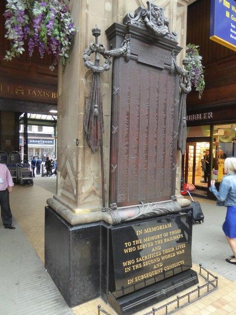 War memorial in Glasgow Central station