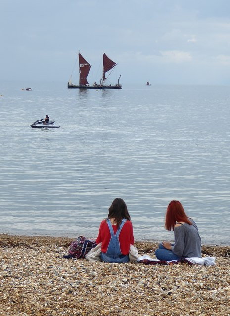 A view from the east beach at Whitstable