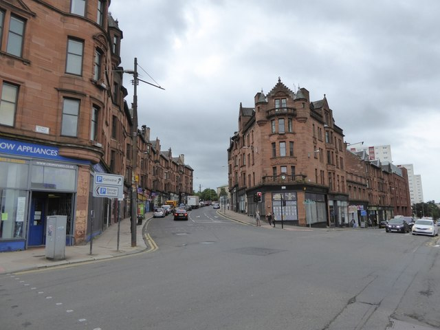 Looking up High Street, Glasgow