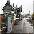 SO0291 : Ticket machine on Caersws railway station by Jaggery