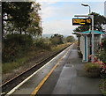 SO0291 : Caersws railway station by Jaggery
